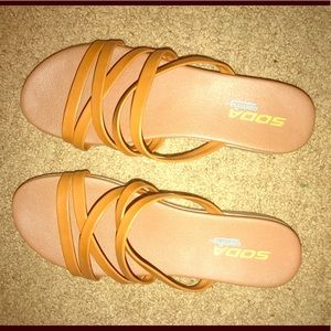 Shoes - Tan sandals(NEVER WORN)